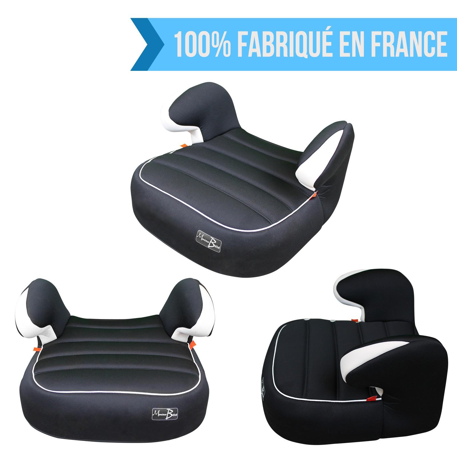 Monsieur b b rehausseur auto noir monsieur b b for Rehausseur bebe auto