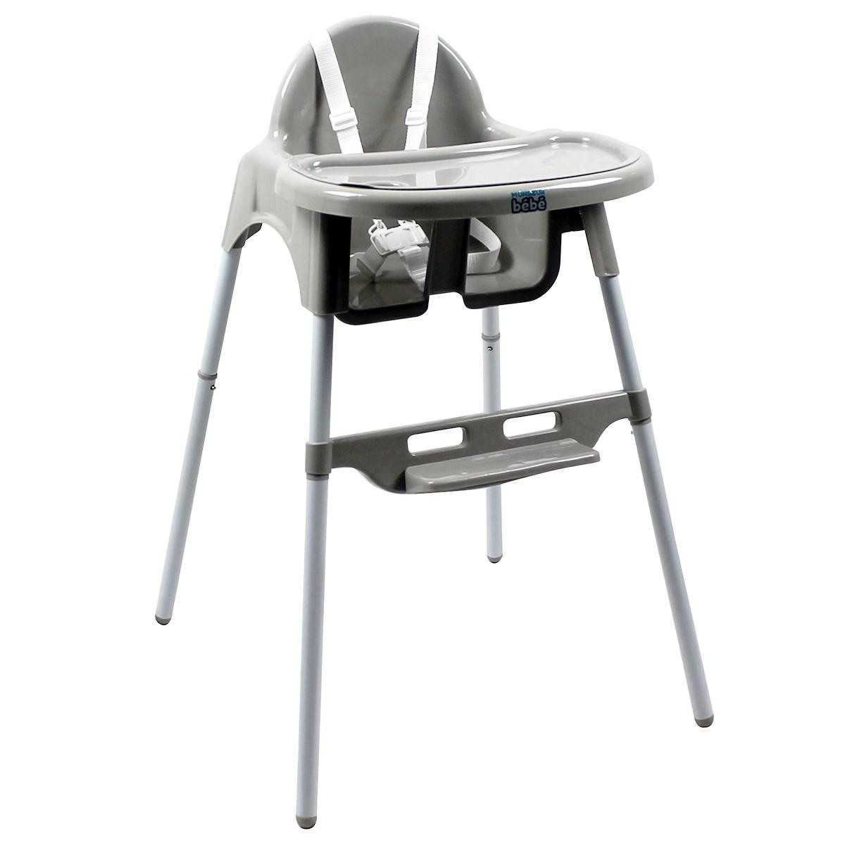 Monsieur Bébé : La Chaise haute Délice Blanche Monsieur
